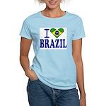 I love Brazil Women's Pink T-Shirt