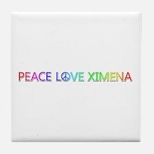 Peace Love Ximena Tile Coaster
