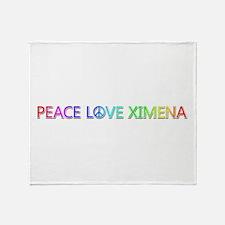 Peace Love Ximena Throw Blanket