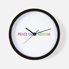 Peace Love Ximena Wall Clock