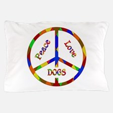 Peace Love Dogs Pillow Case