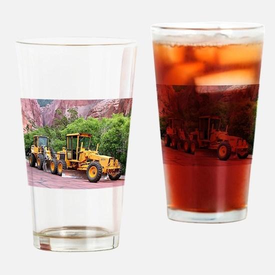 Motor grader & tool carrier Drinking Glass