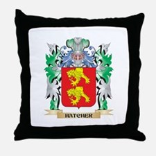 Hatcher Coat of Arms (Family Crest) Throw Pillow