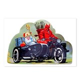 Krampus motorcycle Postcards