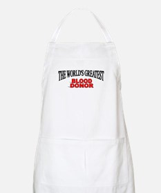 """The World's Greatest Blood Donor"" BBQ Apron"