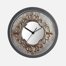 Steampunk Fluer de lis Wall Clock