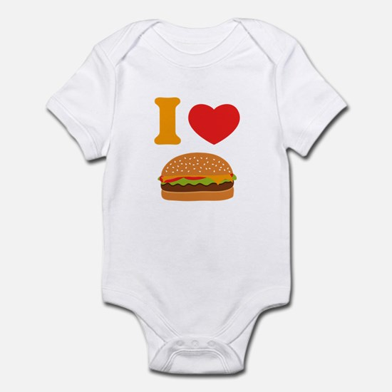 I Love Cheeseburgers Infant Bodysuit