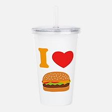 I Love Cheeseburgers Acrylic Double-wall Tumbler