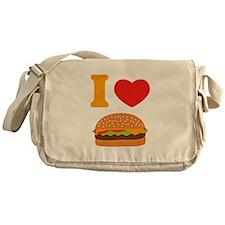 I Love Cheeseburgers Messenger Bag