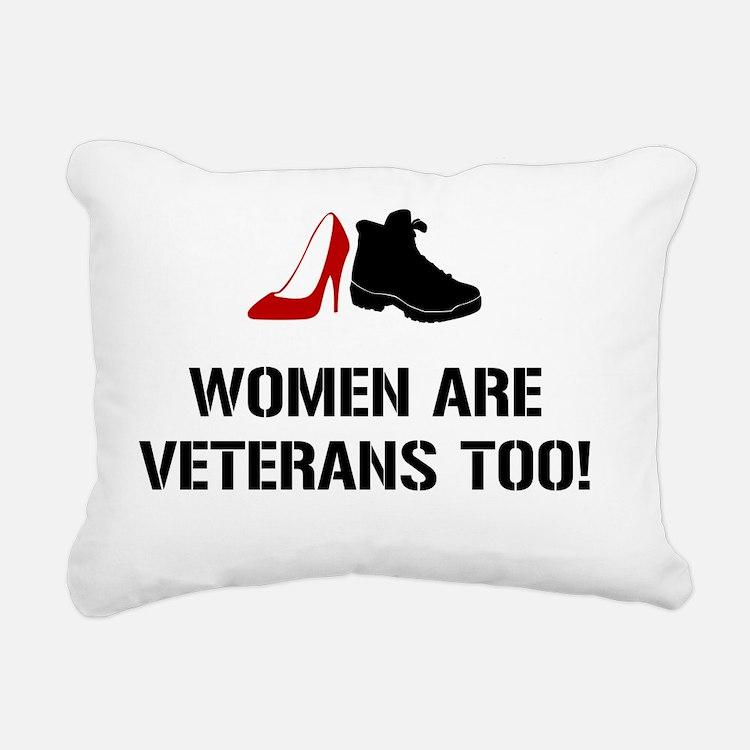Cute Women veterans Rectangular Canvas Pillow