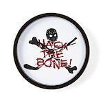 HOCKEY - hack the bone Wall Clock