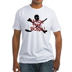 HOCKEY - hack the bone Fitted T-Shirt