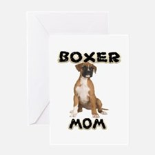 Boxer Mom Greeting Cards