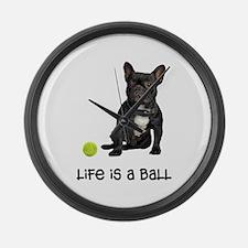 French Bulldog Life Large Wall Clock