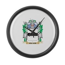 Hauser Coat of Arms (Family Crest Large Wall Clock