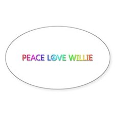 Peace Love Willie Oval Decal