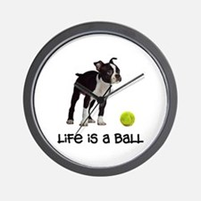 Boston Terrier Life Wall Clock
