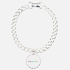 Peace Love Wiley Charm Bracelet