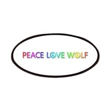 Peace Love Wolf Patch