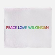 Peace Love Wilkinson Throw Blanket