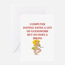 computer dating Greeting Cards