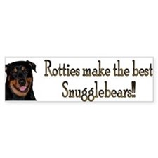 Rotties are Sungglebears Bumper Car Sticker