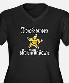 There's a New Sheriff in Town Women's Plus Size V-