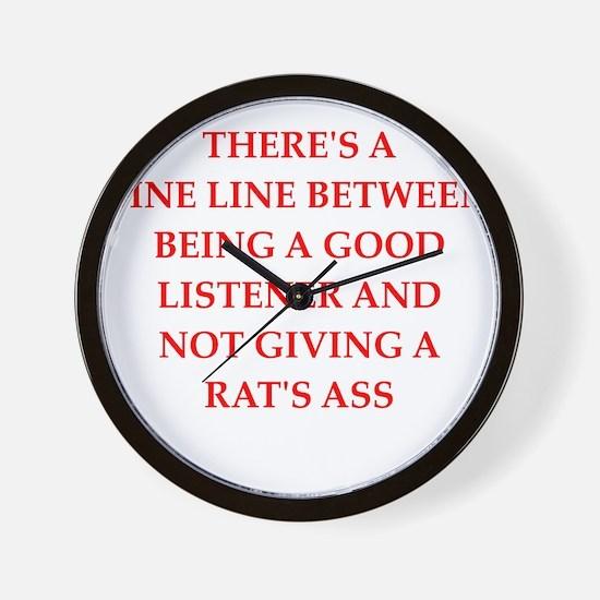 apathy Wall Clock