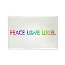 Peace Love Uriel Rectangle Magnet