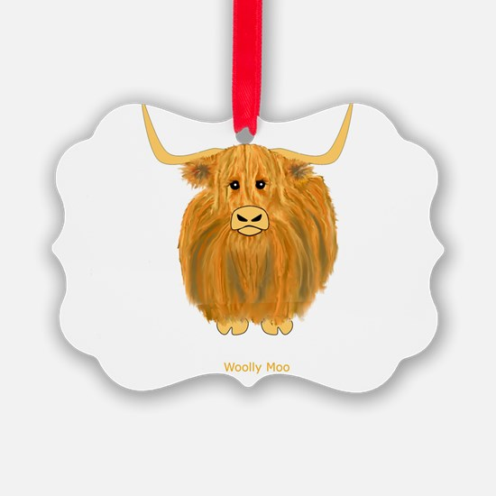 Woolly Moo Ornament
