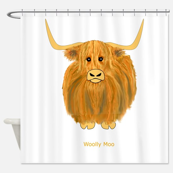 Woolly Moo Shower Curtain