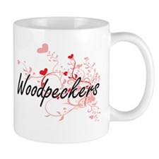 Woodpeckers Heart Design Mugs