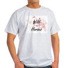 Wild Horses Heart Design T-Shirt