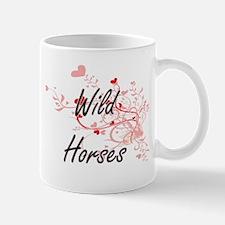Wild Horses Heart Design Mugs