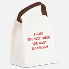 sarcasm Canvas Lunch Bag