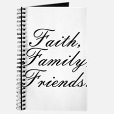 Faith, Family, Friends, Journal
