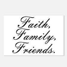 Faith, Family, Friends, Postcards (Package of 8)