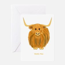 Woolly Moo Greeting Card