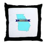 True Blue Georgia LIBERAL Throw Pillow
