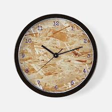 OSB PLYWOOD Wall Clock