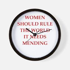 women rule Wall Clock