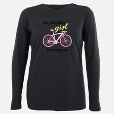 Cute Womens cycling Plus Size Long Sleeve Tee