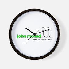 Funny Save john from cincinnati Wall Clock