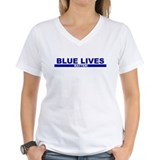 Blue lives matter Womens V-Neck T-shirts