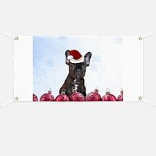 Christmas French Bulldog Banner