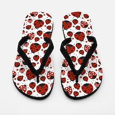 Unique Ladybug Flip Flops