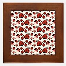 Unique Ladybug Framed Tile