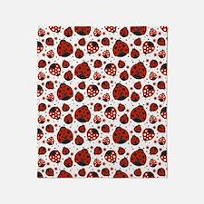 Unique Ladybug Throw Blanket
