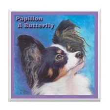 Papillon the Butterfly Tile Coaster