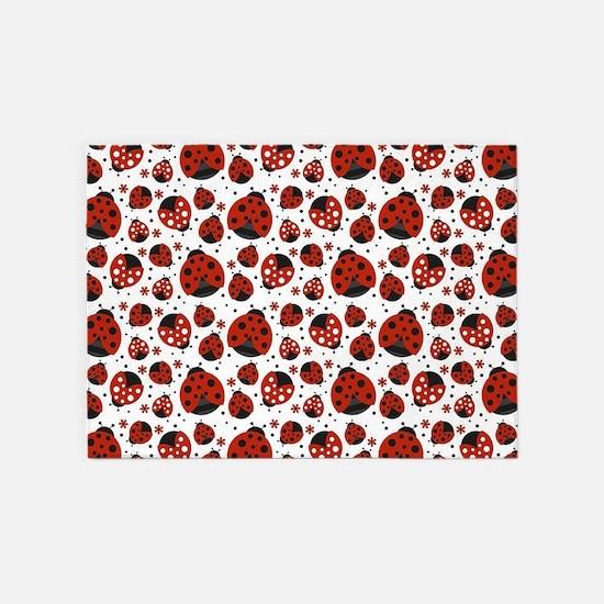 Little Ladybugs 5'x7'Area Rug